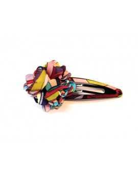 FABRIC FLOWER SNAP CLIP