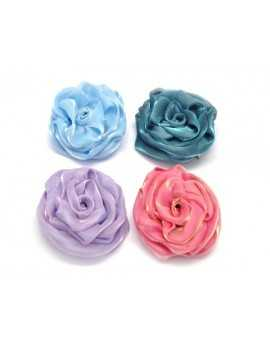 COLORED FABRIC FLOWER...