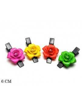 HAIR CLIP WITH FLOWER AND...